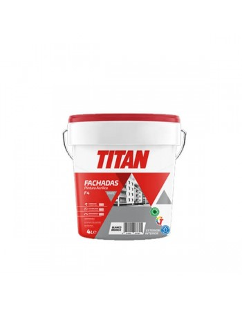 PLASTICA TITAN FACHADAS BLANCO 4 L