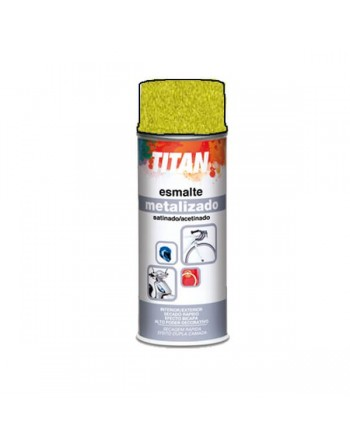 Titan spray metalizado oro amarillo 400 Ml