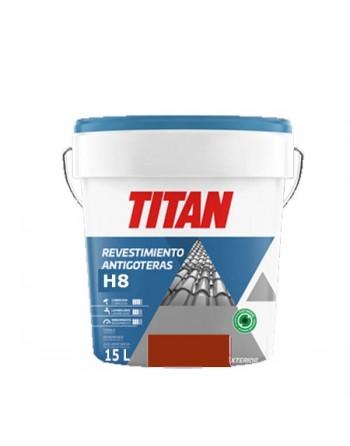 Titan antigoteras rojo teja 15 L