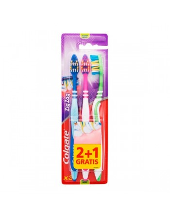 Colgate cepillo dental zig zag pack