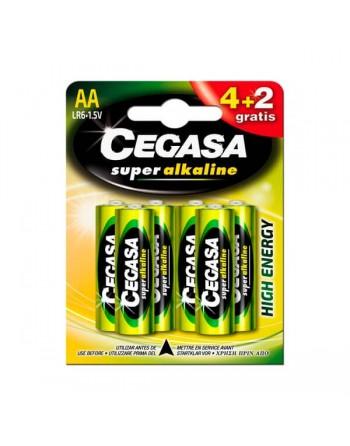 Cegasa pilas alkalinas AA4 +2 unidades