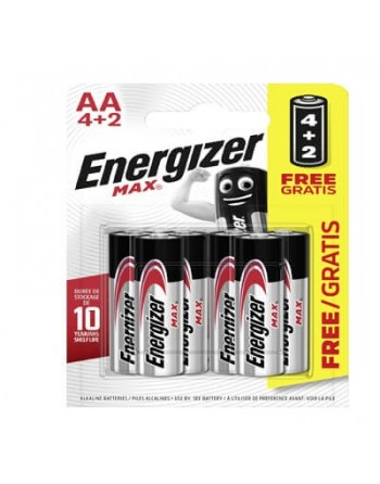 ENERGIZER PILAS ALK.AA 4+2 UN