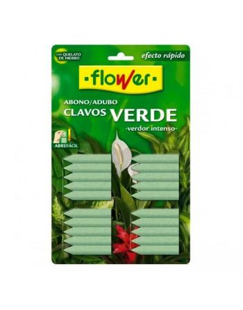 Flower abono clavos verdes