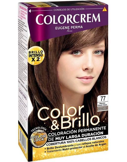 COLORCREM TINTE Nº77 MARRON GLACE CLARO