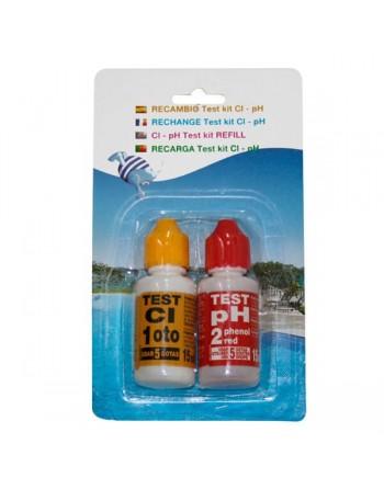 Pqs recambio test kit ph-cloro liquido