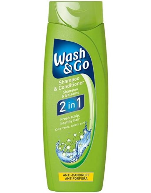 WASH&GO CH.2 EN 1 A.CASPA 400 ML