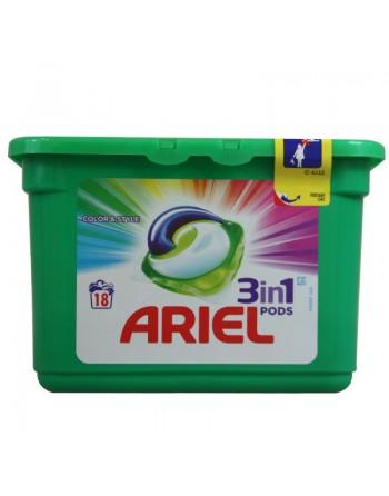 ARIEL TABS 3 EN 1 COLOR 18 UNI