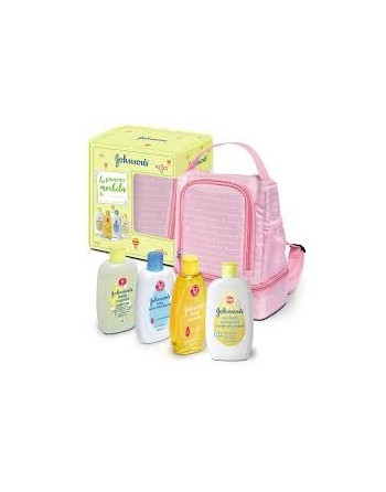 JOHNSONS MOCHILA ROSA 4 PRODUCTOS