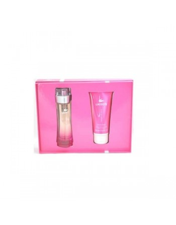 LACOSTE PINK EDT 90 ML+BLOTION 150 ML