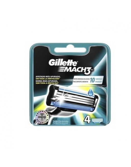 GILLETTE MACH 3 RECAMBIO 4 UN